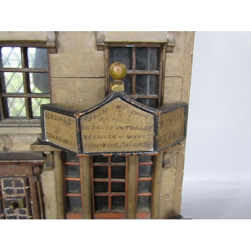 1701 - Good quality folk art scale model of a tavern (possibly American) the signage inscribed 'John Allcoc...