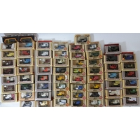 58 boxed model Ford Model T vans including approx 20 'Days Gone' boxes containing a van and character figures. All advertising businesses and brands eg Heinz Tomato Soup, Lindt Chocolate, Ovaltine etc (a boxful)