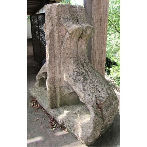 47 - An ancient Gothic limestone pinnacle with carved and pierced detail, 56cm high x 60cm wide x 28cm lo...