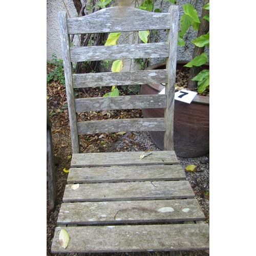 36 - Six vintage folding garden chairs