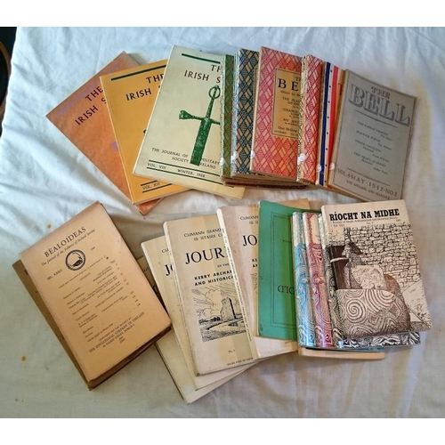 13 - Journals and Year Books: odd nos: The Bell 12 nos 1942-1945; Bealoideas 2 Nos 1948, 1964; Ríocht na ...