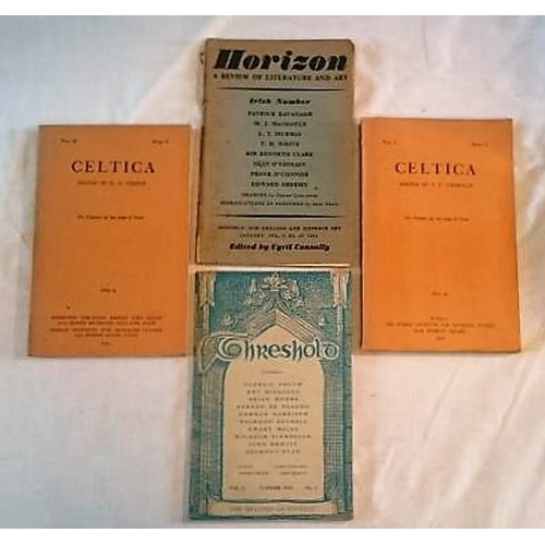 23 - Journals: Celtica Vol 1 pt 2; vol 2 pt 2(1950, 1954) and odd copies of Other Journals: Threshold (19...