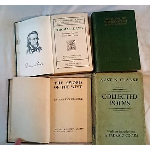 27 - Austin Clarke, The Sword of the West (1921);  Collected Poems (1936); Alfred P. Graves, The Book of ...