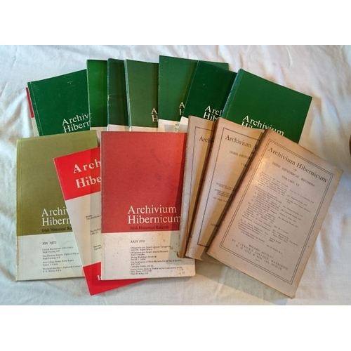 35 - Journals: 15 Various Volumes of Archivium Hibernicum....