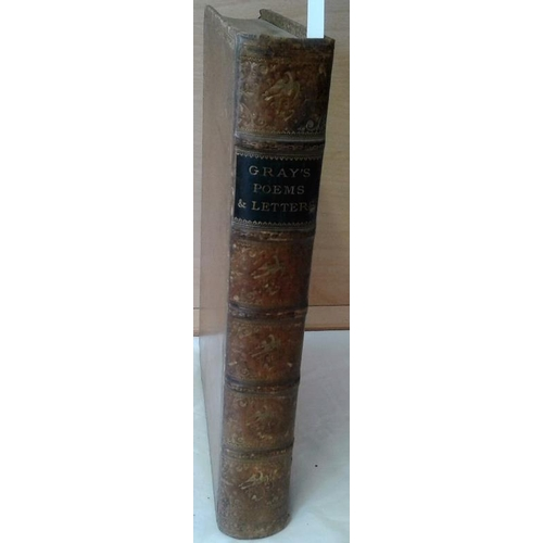 42 - Poems and Letters by Thomas Gray. London, Chiswick Press.  1879. Full leather...