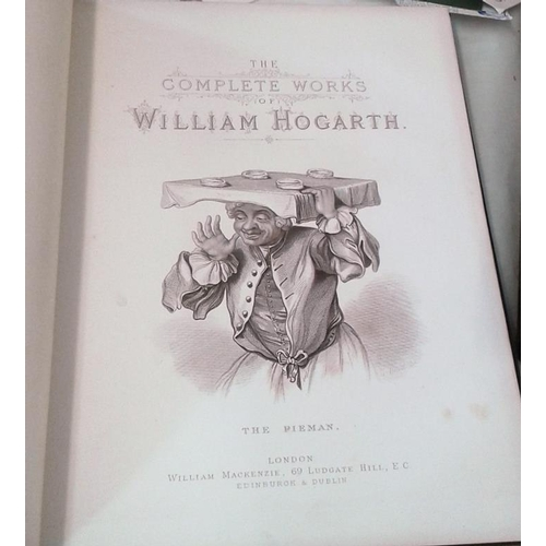55 - Complete works of William Hogarth in 150 engravings. London. Circa 1880. Large format. 6 volumes. Em...