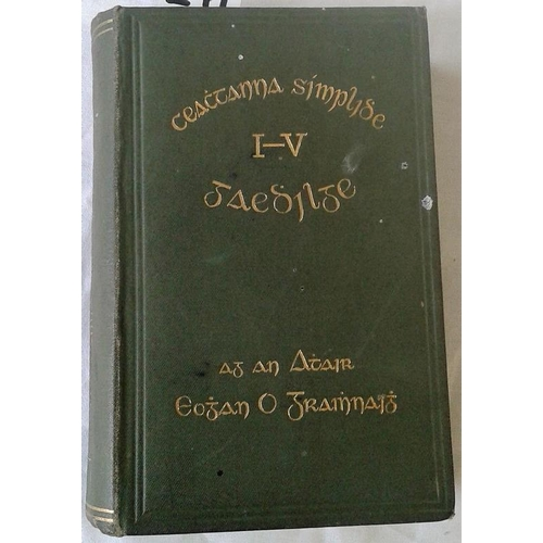75 - Simple Lessons in Irish by Rev. Eugene O'Growney. 1907. 5 parts. & The College Irish Grammar by Rev....