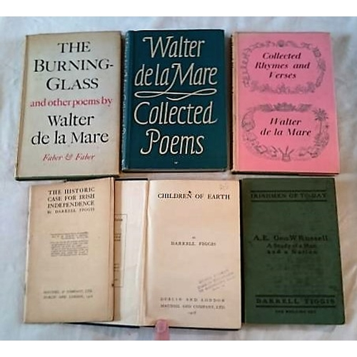 79 - Walter de la Mare, The Burning Glass (1945); Collected Poems (1942); Collected Rhymes and Verses (19...