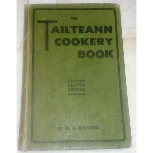 87 - The Tailteann Cookery Book. K. E. WARREN.  Dublin. 1935. Cloth. Shaky...