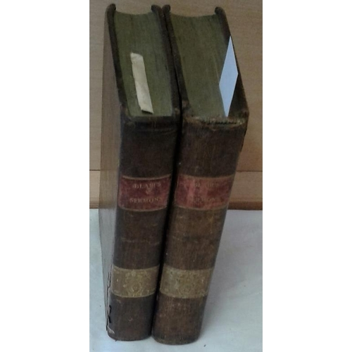 89 - Sermons by Hugh Blair. Dublin, Wogan.  1798. 2 vols. Calf...