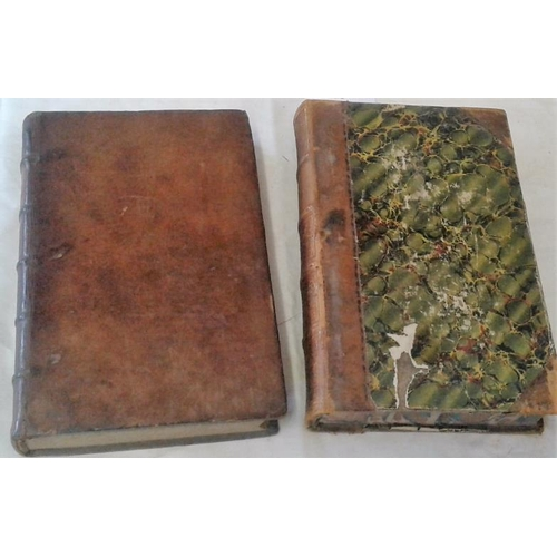 93 - Thoughts on religion and other subjects by Monsieur Pascal. London 1704. Half-leather. &  Private Th...