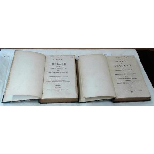 102 - The History of Ireland  by Thomas Leland. 1814. 2 vols. Half leather...