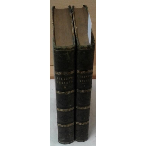 102 - The History of Ireland  by Thomas Leland. 1814. 2 vols. Half leather...