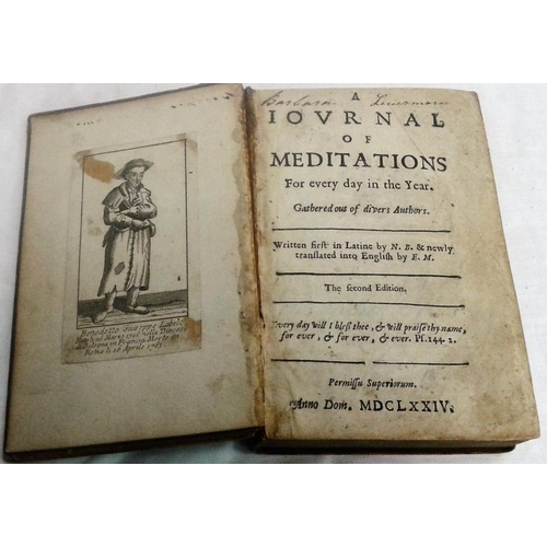 118 - Reflections on Present Matters by Josiah Tucker. London. 1785. Disbound  & Journal of Meditatios. 16...