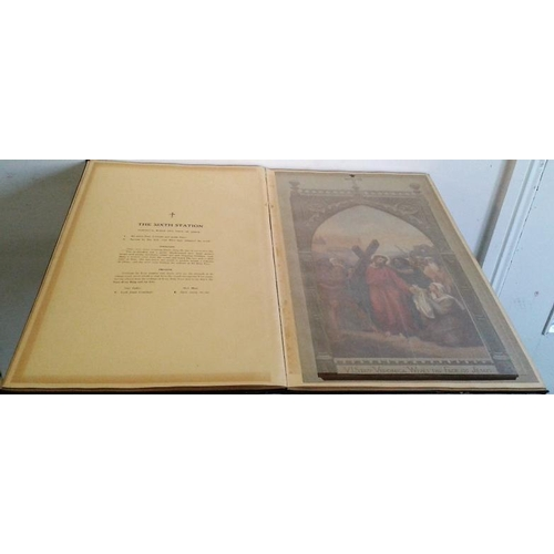 124 - The Stations of The Cross  by The Rev. Columba Hanrahan,  O.F.M. very large format. Colour illustrat...