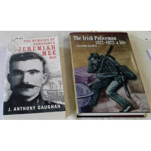 131 - The Irish Policeman by Elizabeth Malcom hardback and Constable Jeremiah Mee by Gaughan paperback. 2 ...