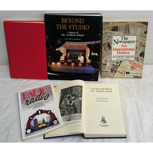 140 - Media: Ulster Loyalists and the British Media (1998); Beyond the Studio (2000); Radio, Radio (1988);...