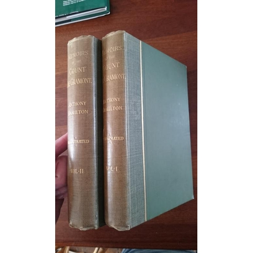 146 - Anthony Hamilton: Memoirs of the Count de Grammont. Vizetelly 1889. 2 Volumes. VG plates with tissue...