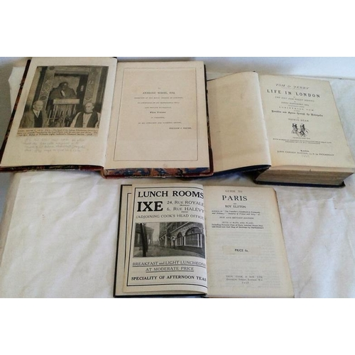 147 - A  Survey of London, 1598 by John Stow. London. 1842. & Cook's Handbook to Paris 1939 & Tom & Jerry ...