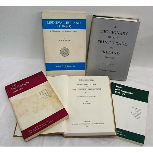 154 - Bibliography: Asplin, Bibliography of Medieval Ireland (1971); Bibliography of Irish Philology, 1913...