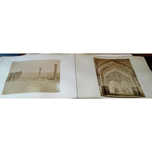 183 - Photo Album. Continental interest, circa 1890. Large format. Approx.. 50 photos. Naples, Granada, Po...