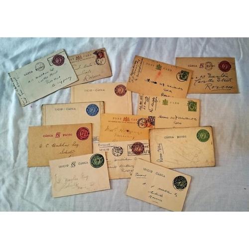 185 - Postal History: Stationary: Leitir chárta 2d; leitir se chárta 2d; leitir chárta 21/2d; litir-chárta...