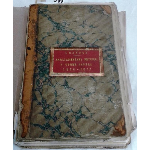 186 - Collection of 19th century reports on the River Shannon...