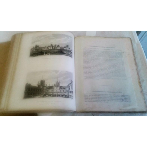 190 - Paris and its Environs. Picturesque Views. Mr. Pugin and Mr. C. Heath. 1829. Plates. Disbound in env...