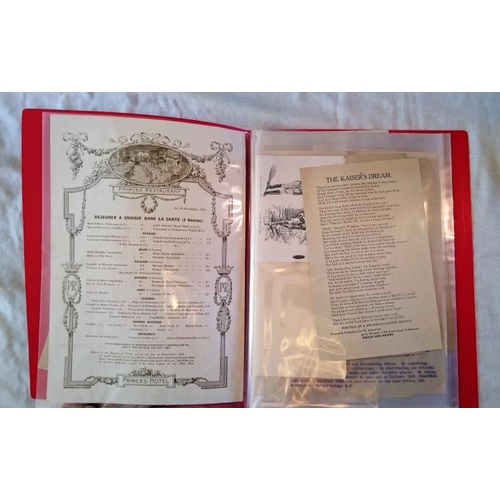 194 - WWI,  File/Folder of Ephemera: Handbills, Notices, Gov Instructions, Recruitment, Various Informatio...