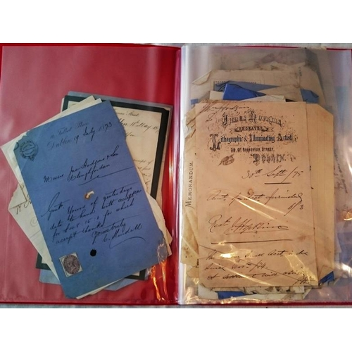 195 - Dublin Ephemera 1870s: ca 50 billheads, receipts and notes from various Dublin establishments, mostl...