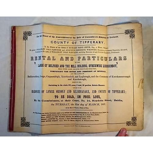 197 - Encumbered Estates 1857; Sale of Rental: Milford House and Demesne; Baronies of Ormond and Kilnemana...