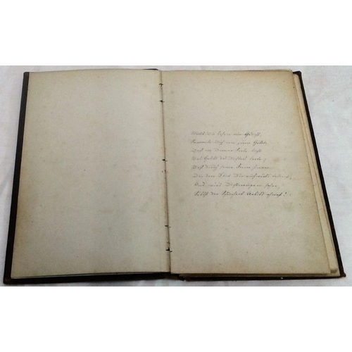 238 - Poesie. Book of manuscript poems in different hands. 1876-1880. Inscription of B. M. Bernard, Maudvi...