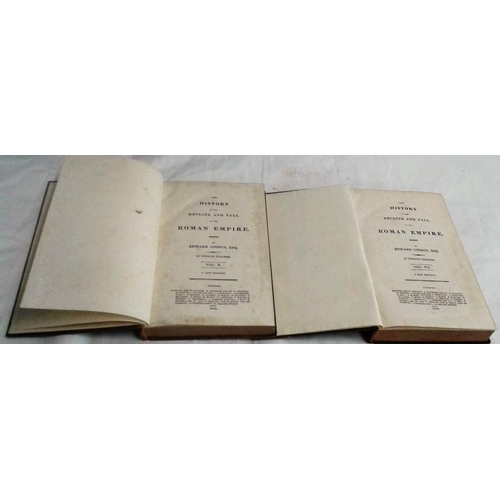 244 - The History of The Decline and Fall of The Roman Empire by Edward Gibbon.  London. 12 volume set. Le...