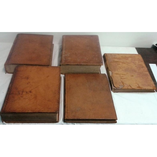 254 - Collection of Statutes of the United Parliament. 1815-1837.  5 volumes. Leather. includes Catholic E...