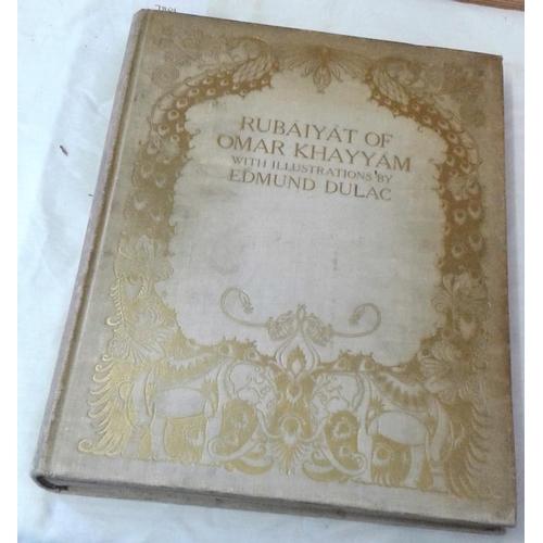 259 - Rubaiyat of Omar Khayyam  by Edward Fitzgerald, with illustrations by Edmund Dulac. London. First ed...