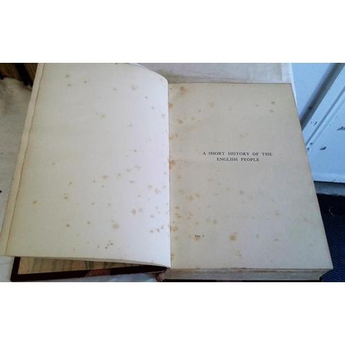 262 - History of the English People by John Richard Green. Illustrated edition. London. 1901. 4 vols. Half...