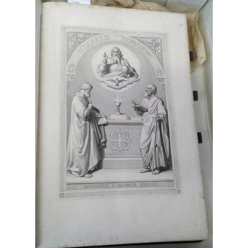 273 - Missale Romanum.  Mechliniae. 1866. Large folio. Most attractive embossed binding. Presentation copy...