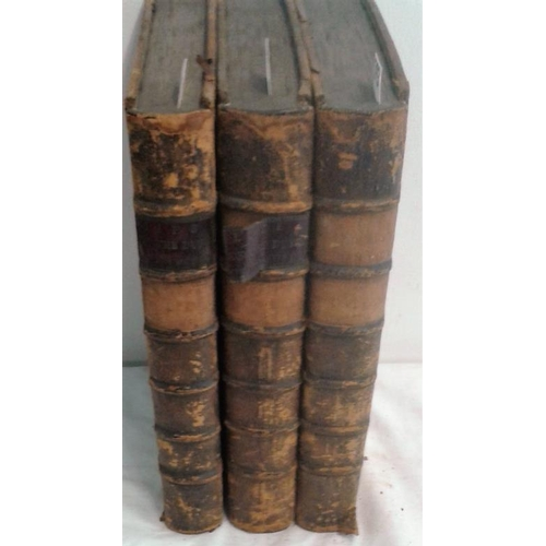 283 - An History of the life of James Duke of Ormonde. LONDON. 1735-1736.  3 volumes.  Folio.  Contemporar...