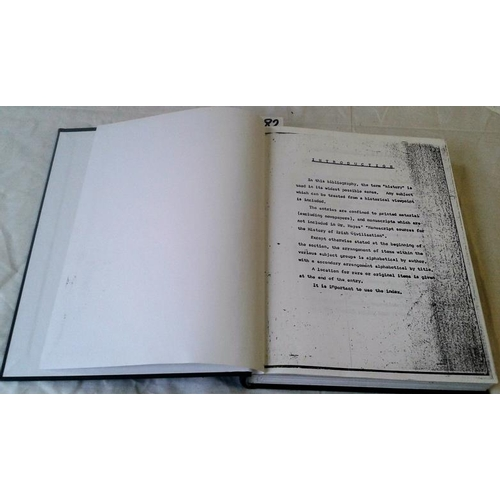 287 - Tipperary Bibliography. 480 pages. Typescript. Circa 1990. A very valuable source book  includes pri...
