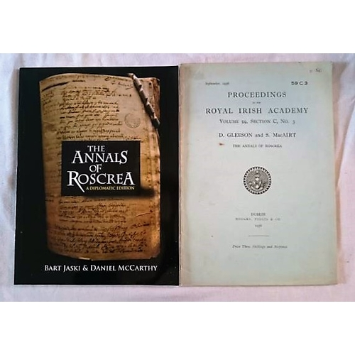 300 - The Annals of Roscrea:  Pria 1958, D. Gleeson and S. MacAirt; A Diplomatic Edition by Bart Laski and...