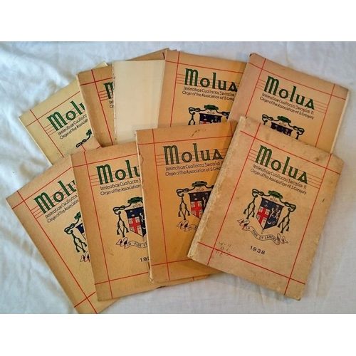 305 - Periodical, Molua, (Organ of St Gregory, Diocese of Killaloe Annual). 9 vols (ex 26): 1938, 1946. 19...