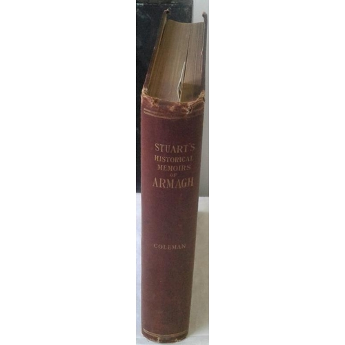 306 - Historical Memoirs of the City of Armagh. Rev. Ambrose Coleman. Dublin. 1900. Dedication from author...
