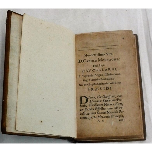 313 - Evangelium Medici, Seu, Medicina Mystica. [Bernard Connor, 1699] lacks title page. Kerry born doctor...