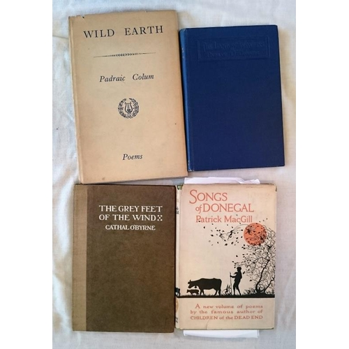 317 - Patrick McGill, Songs of Donegal, First Edition 1921; Padraic Colum Wild Earth, first D. 1950; [Padr...