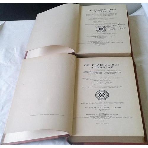 326 - De Praesulibus Hiberniae Potissimis Catholicae Religionis in Hibernia. Rev. John Lynch. Dublin. 1944...
