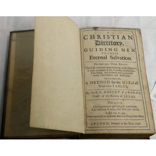 329 - A Christian Directory.  R.F. Robert Parsons.  London. 1696. Cloth....
