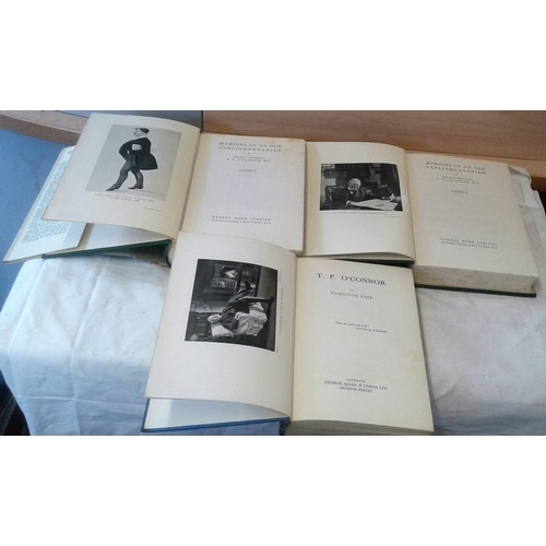 331 - Memoirs of An Old Parliamentarian by  T. P. O'Connor, M.P. 1929 & T. P. O'Connor by Fyfe. 3 books...