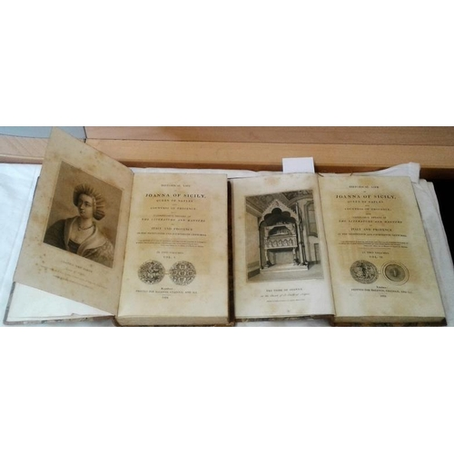 336 - Historical Life of Joanna of Sicily, Queen of Naples.  London. 2 volumes.   1824. Leather. nice set....