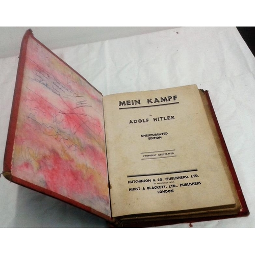339 - Mein Kampf by Adolf  Hitler  Unexpurgated edition. London, Hutchinson. Early edition....