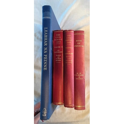 342 - IMC, Simington, The Civil Survey, Co Tipperary ,  2 vols, 1931 and 1934; IMC, Reflex facs 11, Book o...